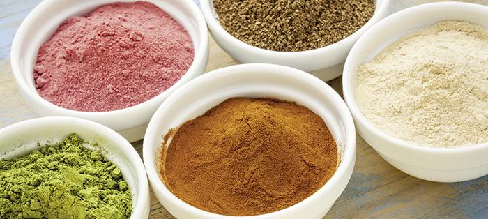 Fruchtpulver und grüne Produkte